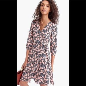 J.Crew Beautiful Floral Wrap Around Dress Size 8P